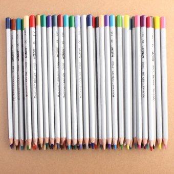 Marco basis minyak sehat bebas racun pensil gambar artis sketsa seni cat 48warna