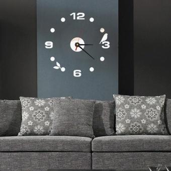 ... Rumah Diseduh Sendiri Jam Dinding Kantor Dekorasi Kamar 3D Permukaan Cermin Stiker Hitam. Source · DIY Large Wall Clock Home Office Room Decor 3D Mirror ...