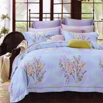 Harga Sleep Buddy Set Sprei dan Bed Cover Blue Grass Cotton Sateen