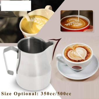 Harga 350ml Milk Frothing Pitcher Milk Foam Container Stainless Steel Professional Coffee Appliance Espresso Measuring Cups - intl