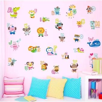 Harga Animal Alphabet ABC1054 (90x60) - Stiker Dinding / Wall Sticker