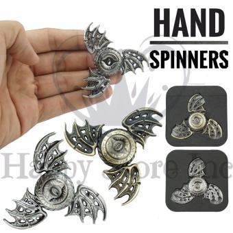Harga Happy Special Design Triangle Fidget Spinner Flying Fish EAGLE Eye Magic Dragon Wings Zinc Alloy Hand Toys Focus Games / Mainan Spiner Tangan Penghilang Kebiasan Buruk - Random - 1 Pcs