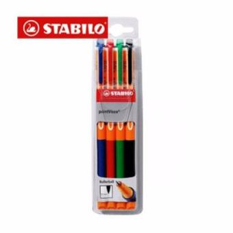 Harga Stabilo Pen Warna Point Visco 4 pcs Kemasan Wallet
