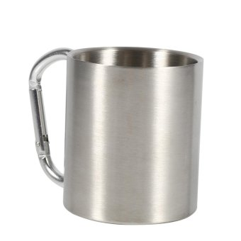 Harga 220ML Portable Stainless Steel Travel Beer Mug Camping Outdoor Sports Water Cups - intl