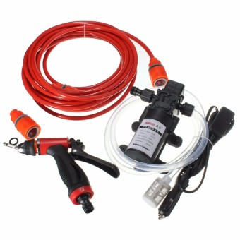 Harga 60W High Pressure Self-priming Electric Car Portable Wash Washer Water Pump 12V- intl