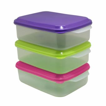 Harga Arniss - Seal ware square New Casa RS-0524 (Set of 3 Multicolor
