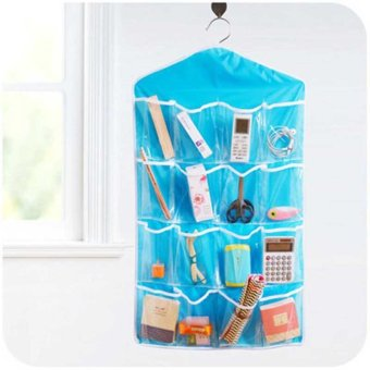 Harga Hanging Shoe Organizer Over the Door 16 Pocket Shoe Rack Door Shelf Hanger Bag -