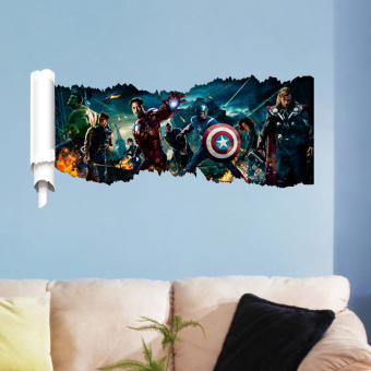 The Avengers Pattern PVC Removable Room DIY Wall Sticker Home Decor