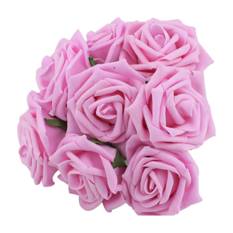 Harga Sanwood Hot Bridal Bouquet Rose Decor (Pink)