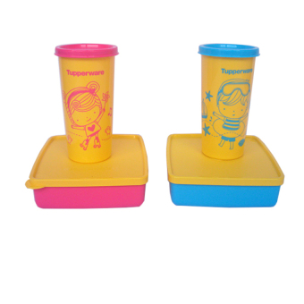 Harga Tupperware Happy Days - Pink-Biru