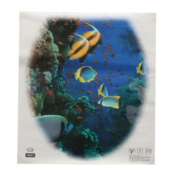 Kursi Toilet yang dapat dilepas stiker Wallpaper dinding stiker vinil seni dekorasi kamar mandi Underwater World