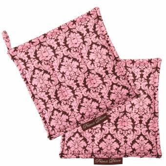 Harga Prima Decor SET OF 2 POT HOLDER - DAMASK PINK