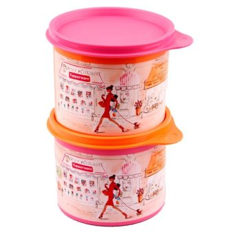 Harga Tupperware Miss Belle Canister 2 Pcs - Pink