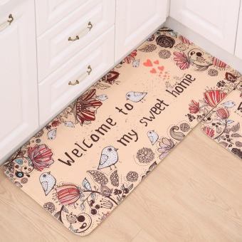 Harga New One 50x120cm Doormat Non-Slip Kitchen Carpet/Bath Mat Home Entrance Floor Mat Welcome Bird