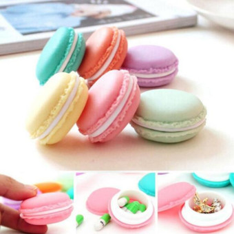 Harga 4ever 6pcs Mini Earphone SD Card Jewelry Macarons Bag Storage Box Case Carrying Pouch