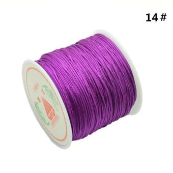 Harga BUYINCOINS 1 Roll 45M Nylon Cord Thread Chinese Knot Macrame Bracelet Braided Cord 0.8MM_Dark Purple - intl