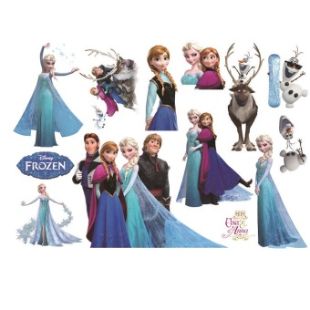 Harga Frozen Roles Pattern Removable Waterproof Wall Stickers for Kids Children Room Home Wall Decor Decoration
