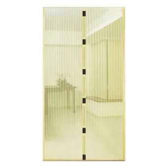 Harga Whiz Magic Mesh Magnetic Screen Door Cover - Tirai Pintu Anti Nyamuk Magnetik - Cream