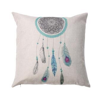 43*43cm Linen Cushion Cover Sofa Decoration Pillowcases - intl