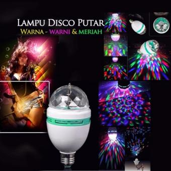 Harga Lucky - Lampu Hias LED Lampu DIsco Rottating - 1 Pcs