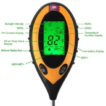 Harga PH Meter Tanah Digital Backlight