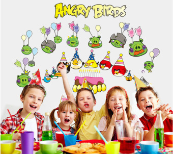 Harga 60x90cm Home Decor Removable Vinyl Wall Sticker Mural Decal Art – Angry birds (Intl)