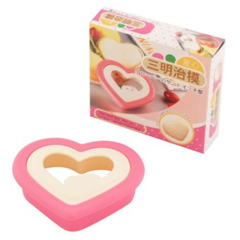 Harga Griya Cetakan Bento Love Bread Sandwich Mould - Multicolor