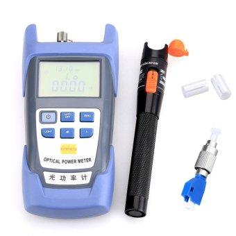 Harga Fiber Optical Power Meter with 10mW Visual Fault Locator Optic Cable Tester Checker and FC