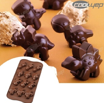 Harga ilovebaby Silicone Dinosaur Chocolate Muffin Cup Cake Candy Ice Tray Mold Maker Party Bar