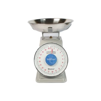 Harga Weston Kitchen Spring Platform Scale 20 kg - Abu-abu