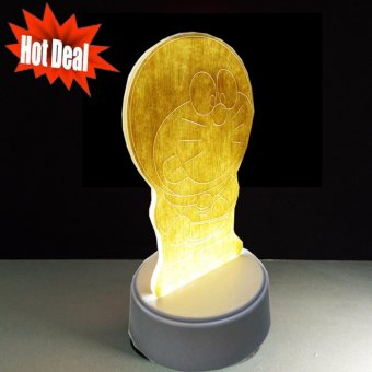 Harga Lampu 3D LED Design Doraemon