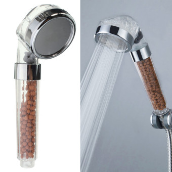 Harga 2pcs Bathroom Booster SPA Anion Water-saving Handheld Rain Shower Spray Head Nozzle - Intl