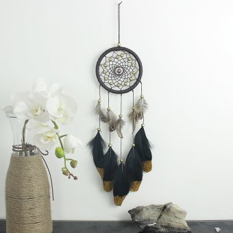 Harga Dream Catcher black natural Style Feather Home Hanging Decoration high quality