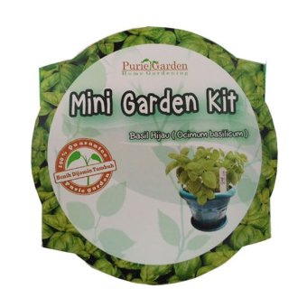 Harga Puriegarden - Mini Garden Kit - Green Basil
