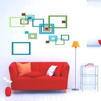 Harga Home Decor Wallsticker Sticker Dinding AY1925 - Colorful