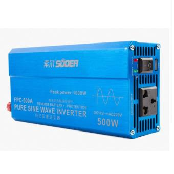 Harga SUOER Power Inverter PURE SINE WAVE 500w 500 Watt USB Input 12v Pompa Jet Pump Kipas Angin Komputer Laptop Televisi Kulkas