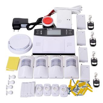 """GSM Burglar Alarm System w/ 2.7"""" Screen - White (EU Plug) -"""