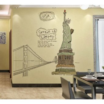 Harga Home Decor Wallsticker Stiker Dinding AY807 - Colorful