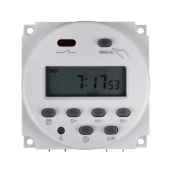 Harga DC-12V-16A Digital-LCD-Power-Programmable-Timer-Time-switch-Relay-16A