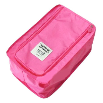 Harga Whiz Korea Waterproof Travel Shoe Pouch Bag - Pink