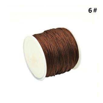 Harga High Quality Store New 1 Roll 45M Nylon Cord Thread Chinese Knot Macrame Bracelet Braided Cord 0.8MM_Coffee