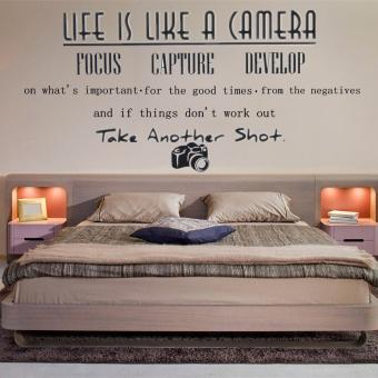 Life Like A Camera Wall Quote Butterfly Stickers Home Art Decal Vinyl Removable - intl