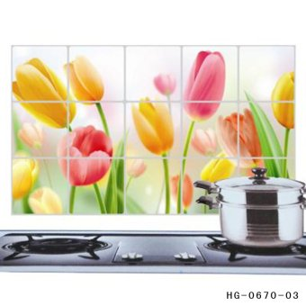 Harga Fancyqube Tulip Kitchen Wall Stickers