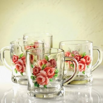 Harga Briliant Glass Mug GM0734 - Summer Time Red