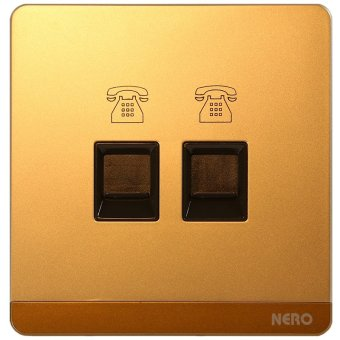 Harga Nero Telephone Outlet Decora Q7-G Q7Ph2-G - Gold
