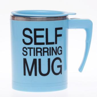 Harga DFW-Self Stiring Mug Steinless - Biru