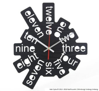 Nail Your Art Jam Dinding Unik Artistik - One-Two-Three I - Artistic Unique Wall Clock
