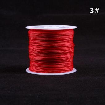 Harga High Quality Store New 1 Roll 45M Nylon Cord Thread Chinese Knot Macrame Bracelet Braided Cord 0.8MM_Red