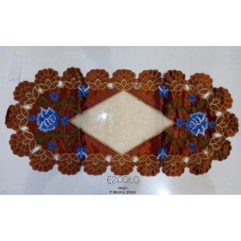 Harga Ezpata Taplak Meja Tamu Bordir Warna Coklat Ukuran 82x37cm