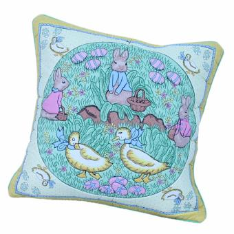 Harga Prima Decor CUSHION COVER - Oval Duck & Bunny (40cm x 40cm)